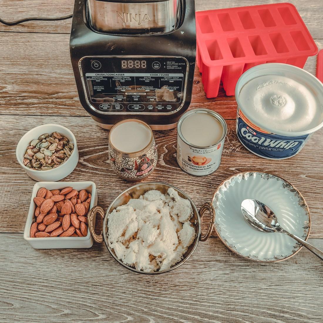 Punjabi Kulfi Recipe - Ninja Foodi Cold and Hot Blender - Kulfi Ingredients