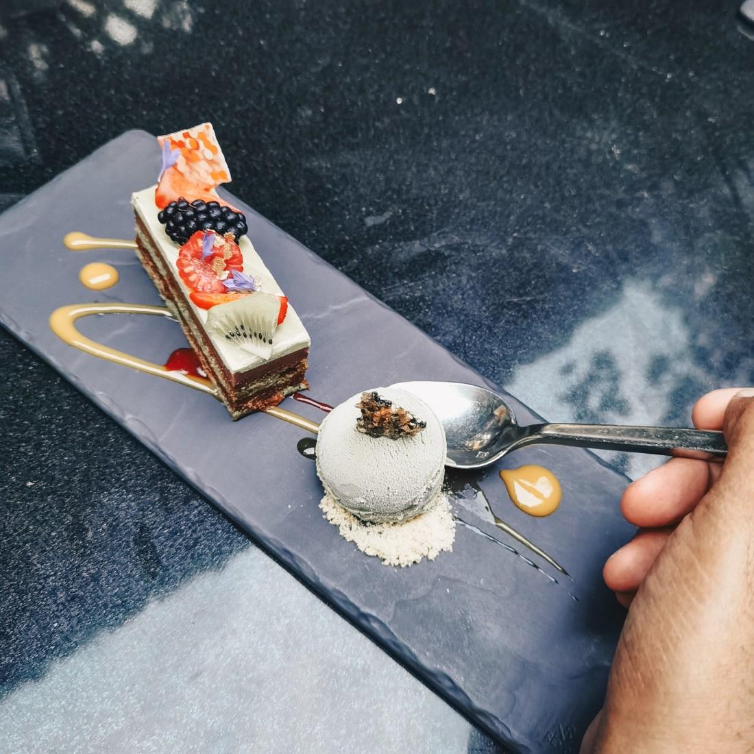 Minami Yaletown Vancouver - Shokai Menu - Chef's Tasting Menu - Matcha Opera Cake