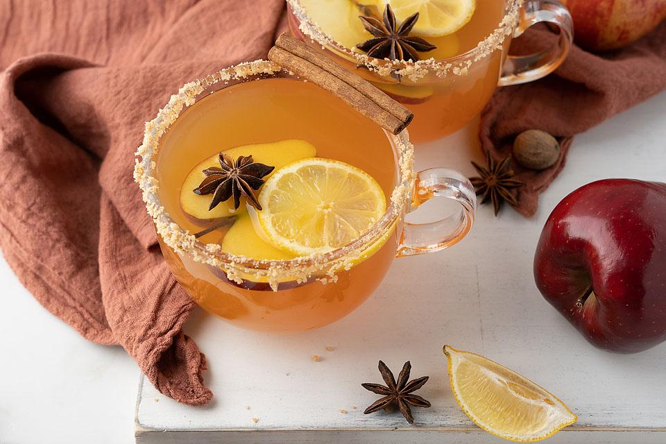 Toffee Apple Cider Fireball Hot Toddy