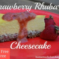 Gluten Free Strawberry Rhubarb Cheesecake