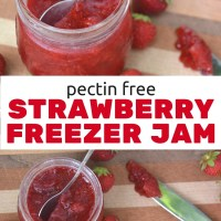 Pectin-Free Easy Strawberry Freezer Jam