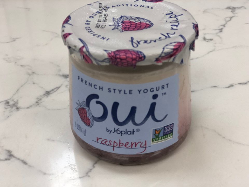 Yogurt oui jars can also be fun for home decor