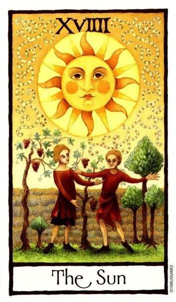 The Sun - Royal Tarot Deck