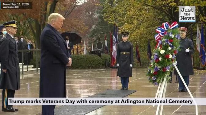Trump marks Veterans Day with ceremony at Arlington National Cemetery |  Just The News