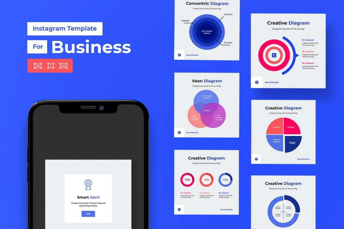 Chart Amp Graph Instagram For Corporate And Business V1