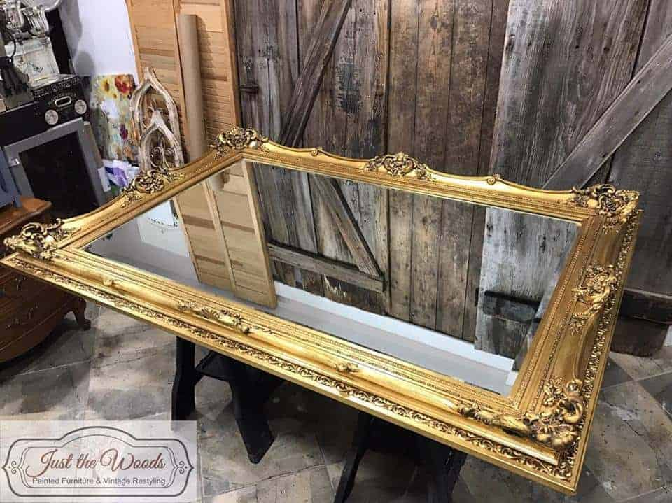 How To Paint A Mirror Frame The Easy Way By Just The Woods