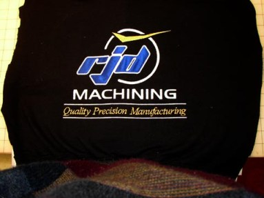RJD Machining embroidered logo