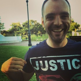"Greg came prepared, dressing himself in his very own ""JustTIC"" T-Shirt! We were very impressed!"