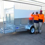 GARDENING TRAILER 2700 X 1500 X 1500 GALVANISED CUSTOM DESIGN
