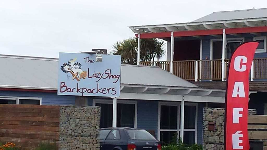 Lazy Shag backpackers sign in New Zealand