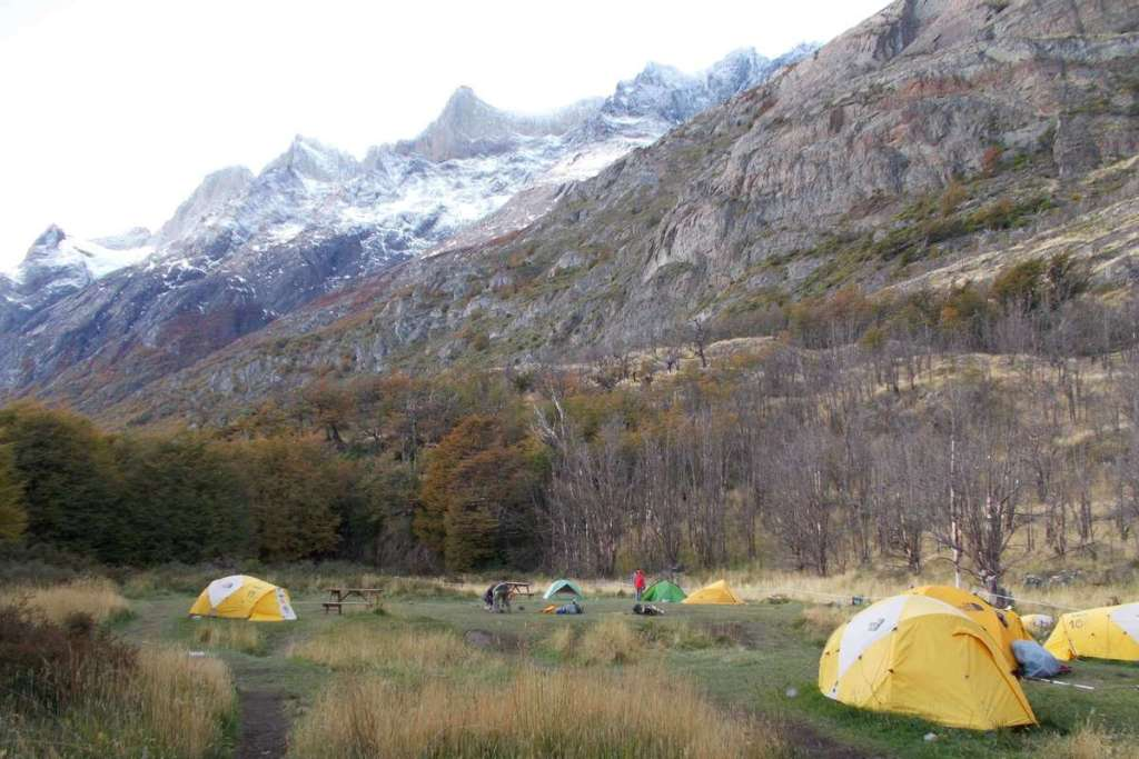 Camp site at Refugio Grey, Torres del Paine National Park