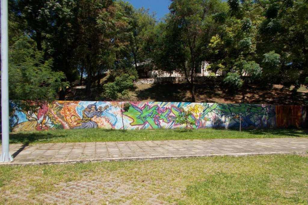 Graffiti in a park just outside Asuncion