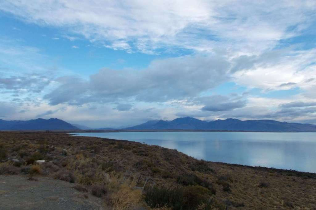 Lake and distant mountains just outside El Calafate