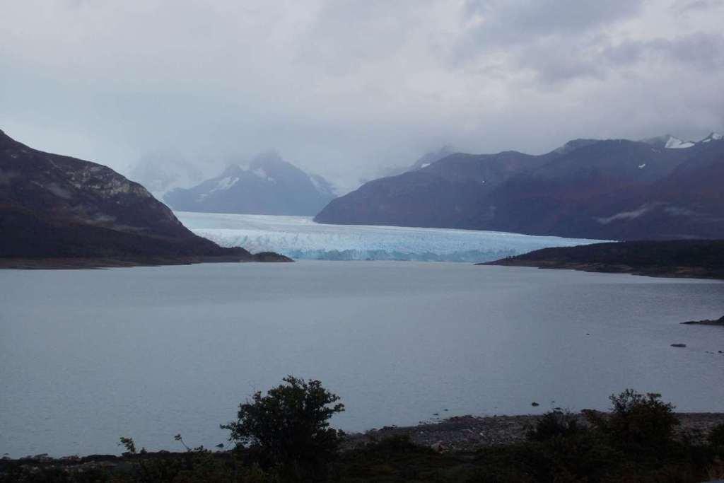 Long range view of Perito Moreno Glacier