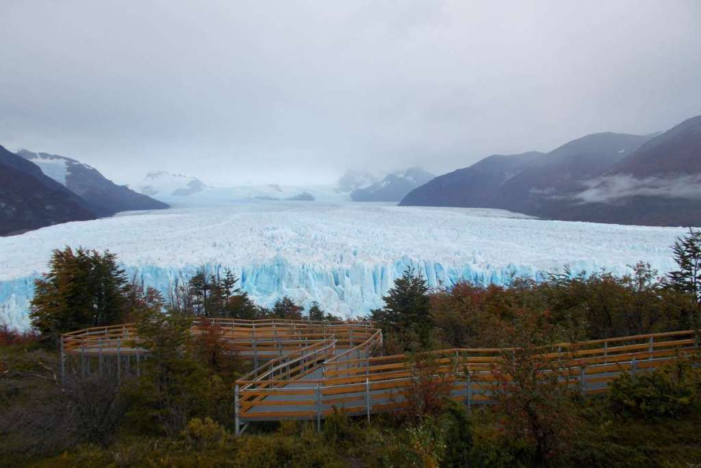 View from the walkways overlooking Perito Moreno Glacier