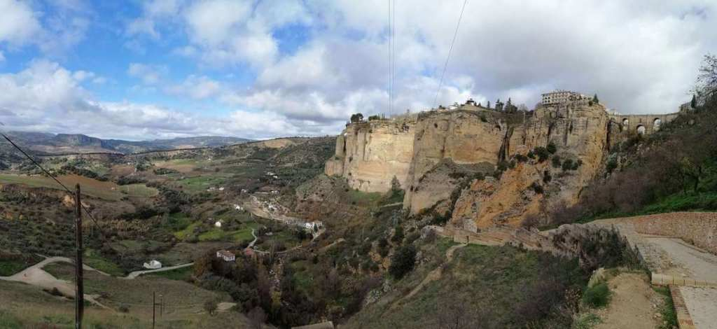 View of the landscape around Ronda