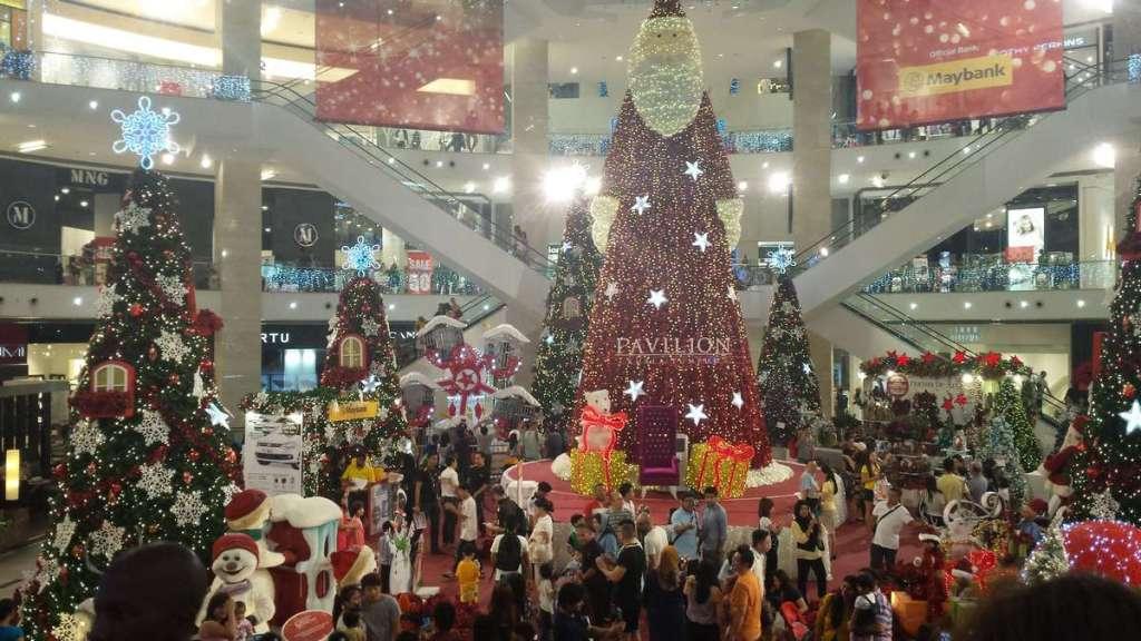Christmas decked mall in Kuala Lumpur