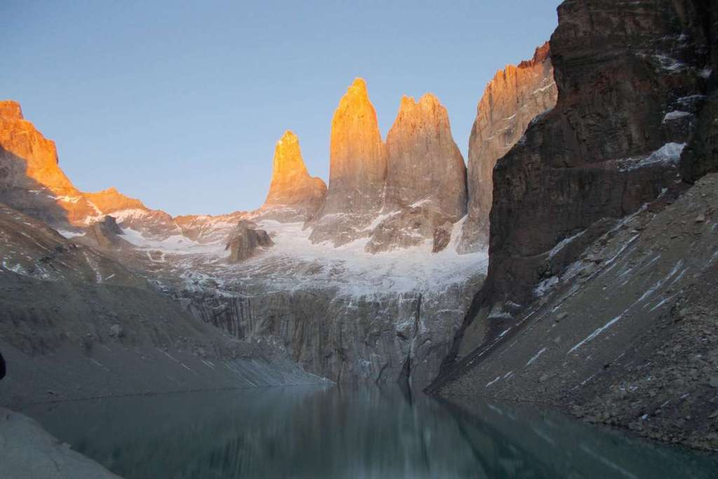 Torres del Paine viewpoint at the towers