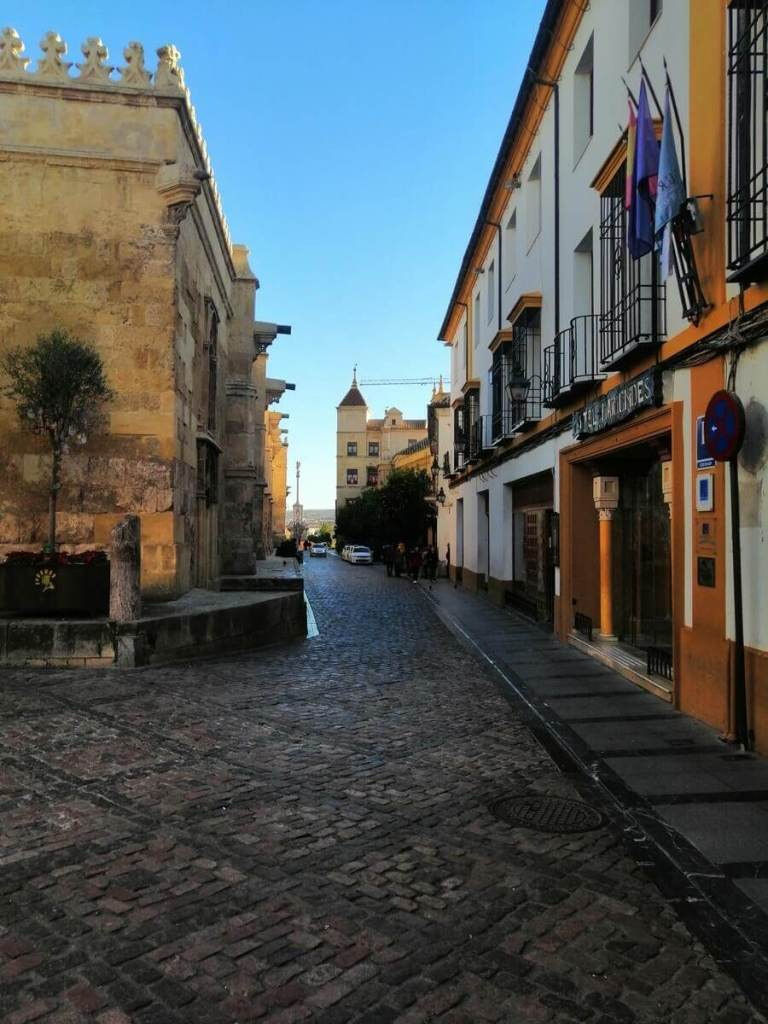 The narrow streets of Cordoba's old town