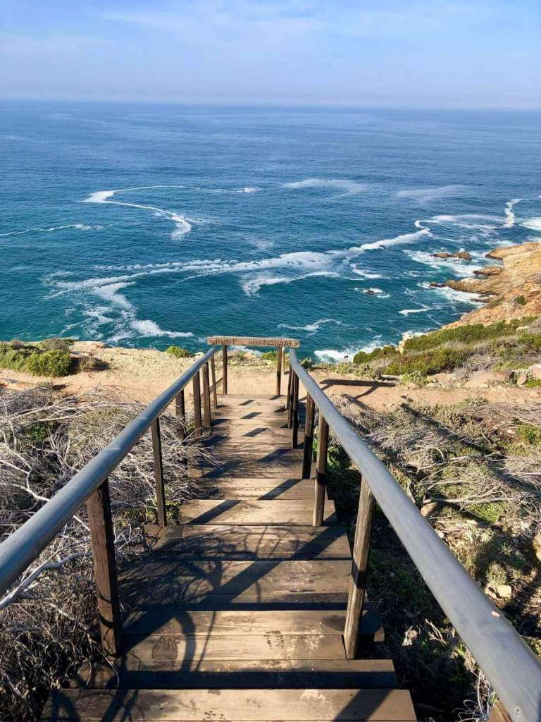 Beach steps in Mossel Bay