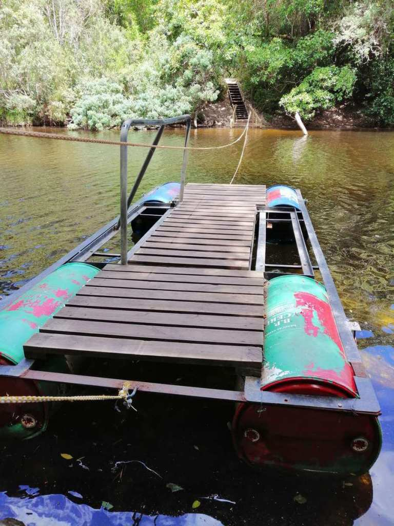 Raft used to cross the river in Wilderness
