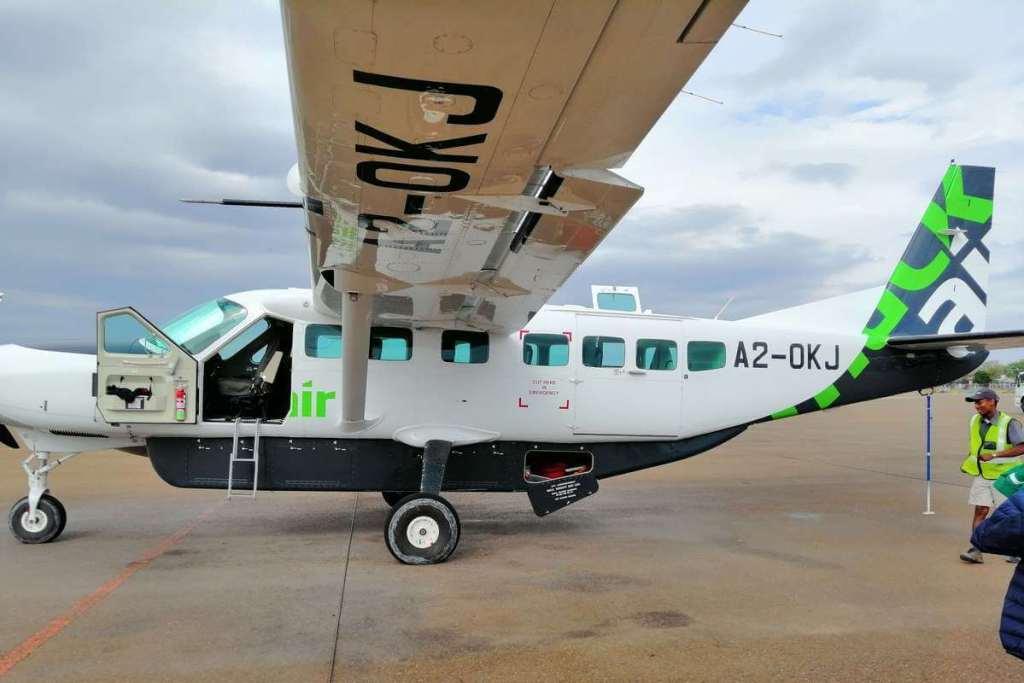 The plane used for scenic flight Okavango Delta