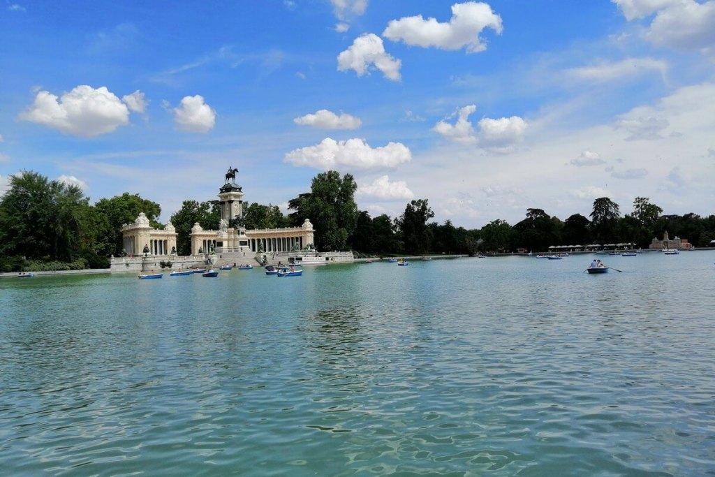 Boating Lake of Parque El Retiro in Madrid
