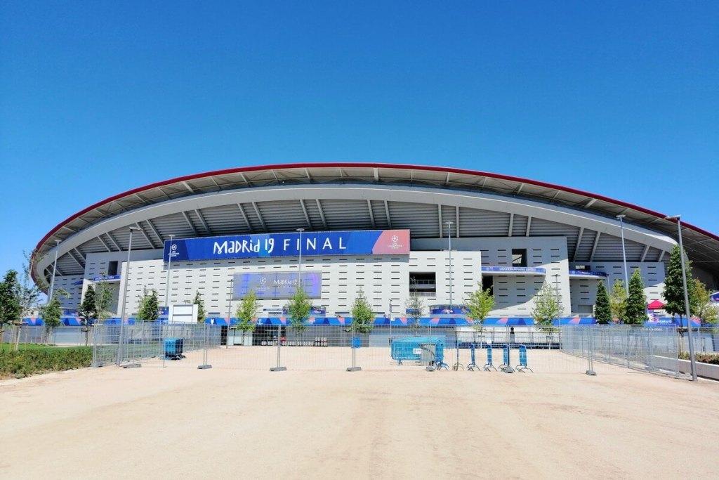 Wanda Metripolitano football stadium, home of Atletico Madrid