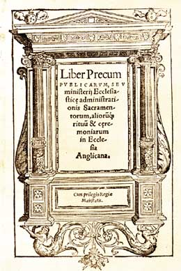 Title page of the Book of Common Prayer