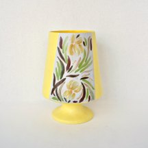 Yellow Tropical MCM Pottery Vase
