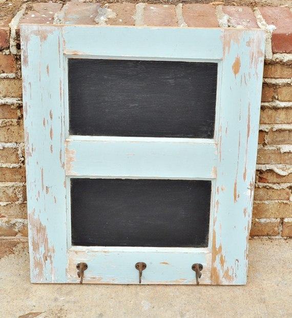 Half door chalkboard coat rack : Just Vintage Home