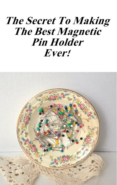 The simple, extra step most tutorials don't tell you to make the best magnetic pin holder ever! One that really works!