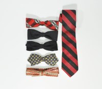 Collection of 5 Vintage Bow Ties + One Skinny Tie - Just ...