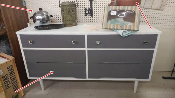 Painted MCM dresser