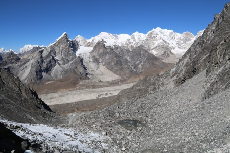 Lobuche way down there