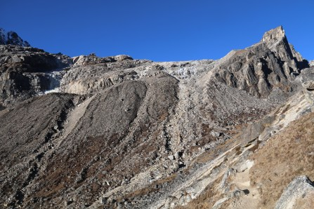 To the right you can see the pathway up towards the pass!