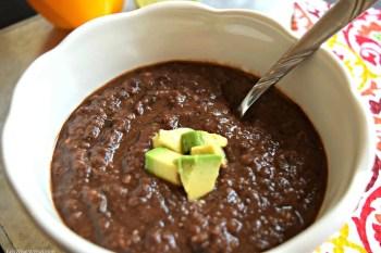 Slow Cooker Black Bean Soup – Gluten Free & Vegan