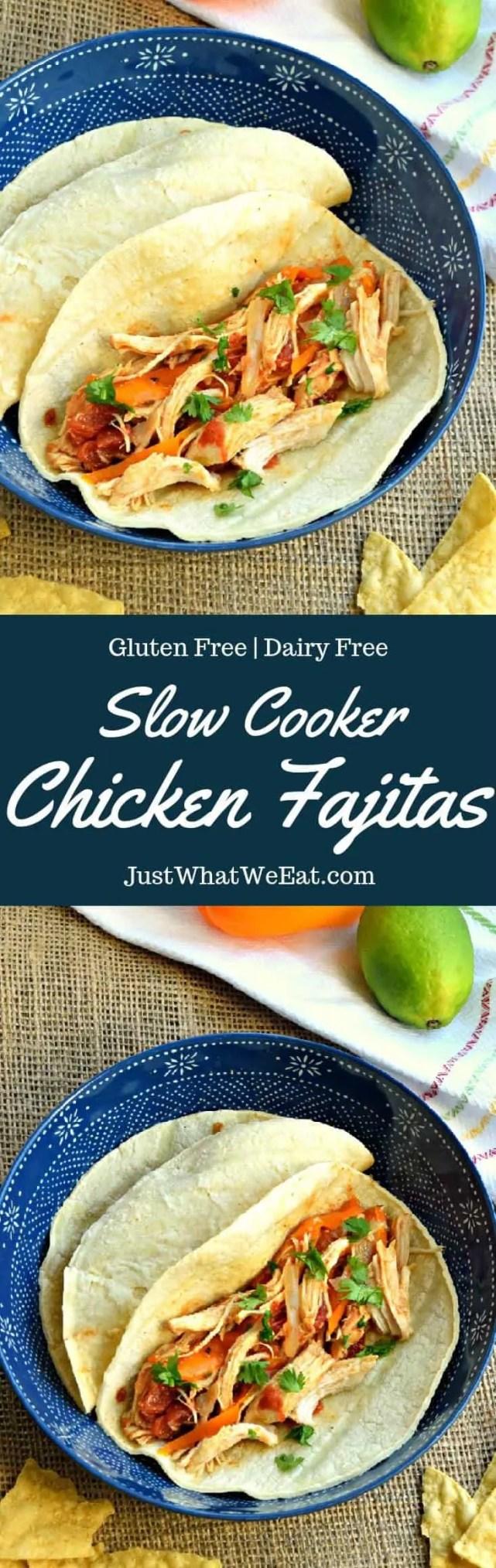 Slow Cooker Chicken Fajitas - Gluten Free & Dairy Free