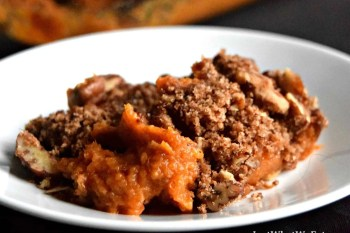 Sweet Potato Casserole – Gluten Free, Vegan, & Refined Sugar Free