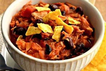 This gluten free and dairy free Chicken Taco Chili is so delicious and so easy to make! It can be made in the slow cooker or Instant Pot making it the perfect dinner option! #glutenfree #dairyfree #slowcooker #chili #chicken