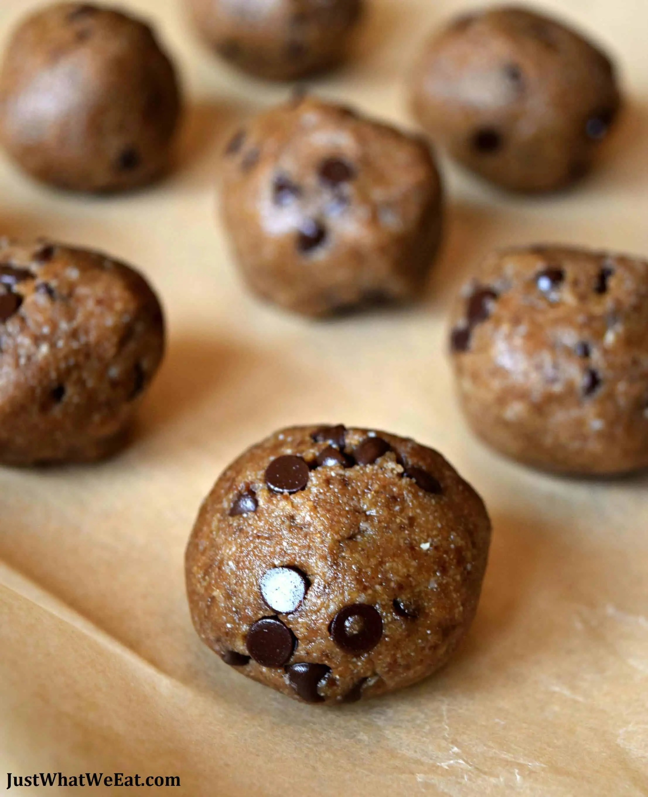 Chocolate Chip Cookie Dough Truffles - Gluten Free & Vegan