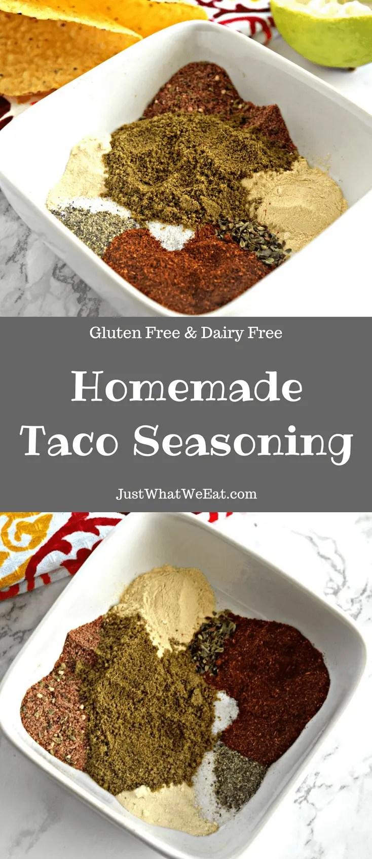 Homemade Taco Seasoning - Gluten Free & Dairy Free