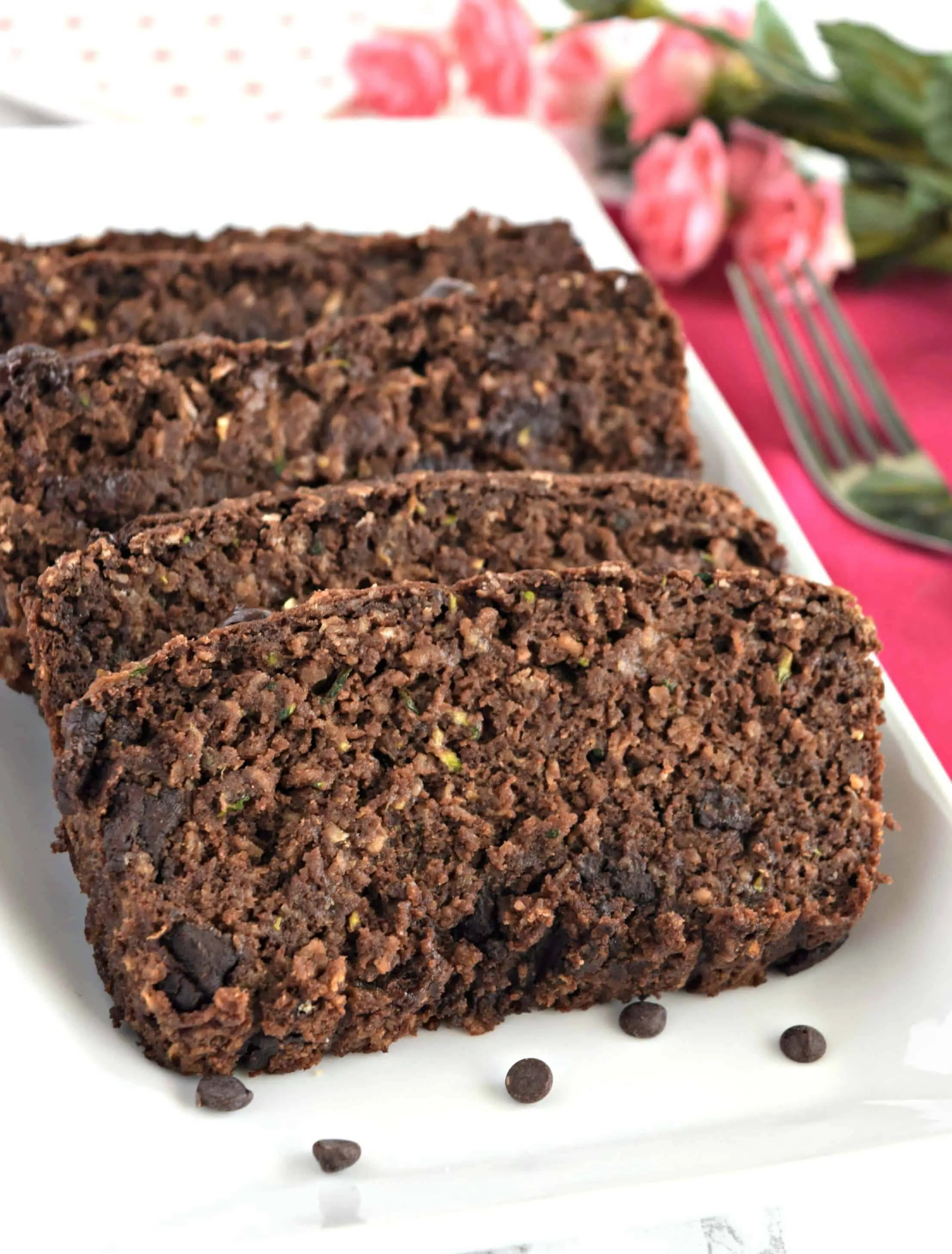 Chocolate Zucchini Bread - Gluten Free & Vegan