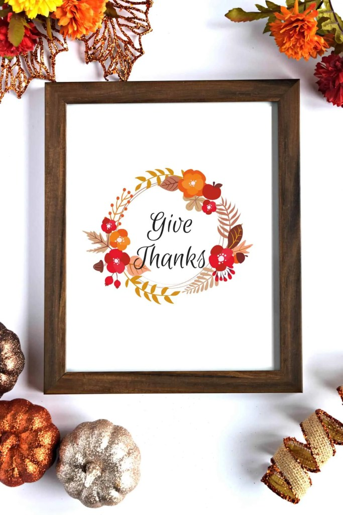 Give Thanks Fall Printable