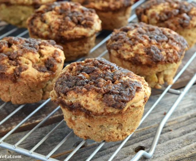 Apple Crumble Muffins – Gluten Free, Vegan, & Refined Sugar Free