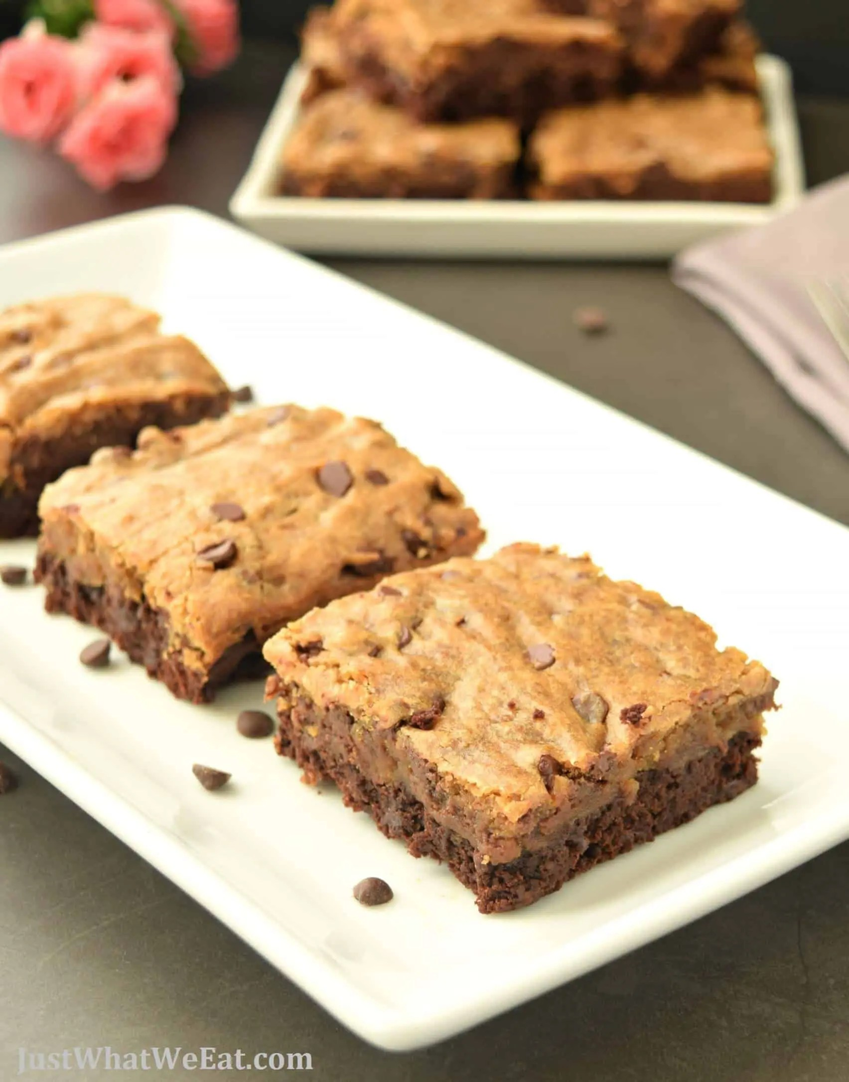 Brownie Cookie Bars - Gluten Free & Vegan