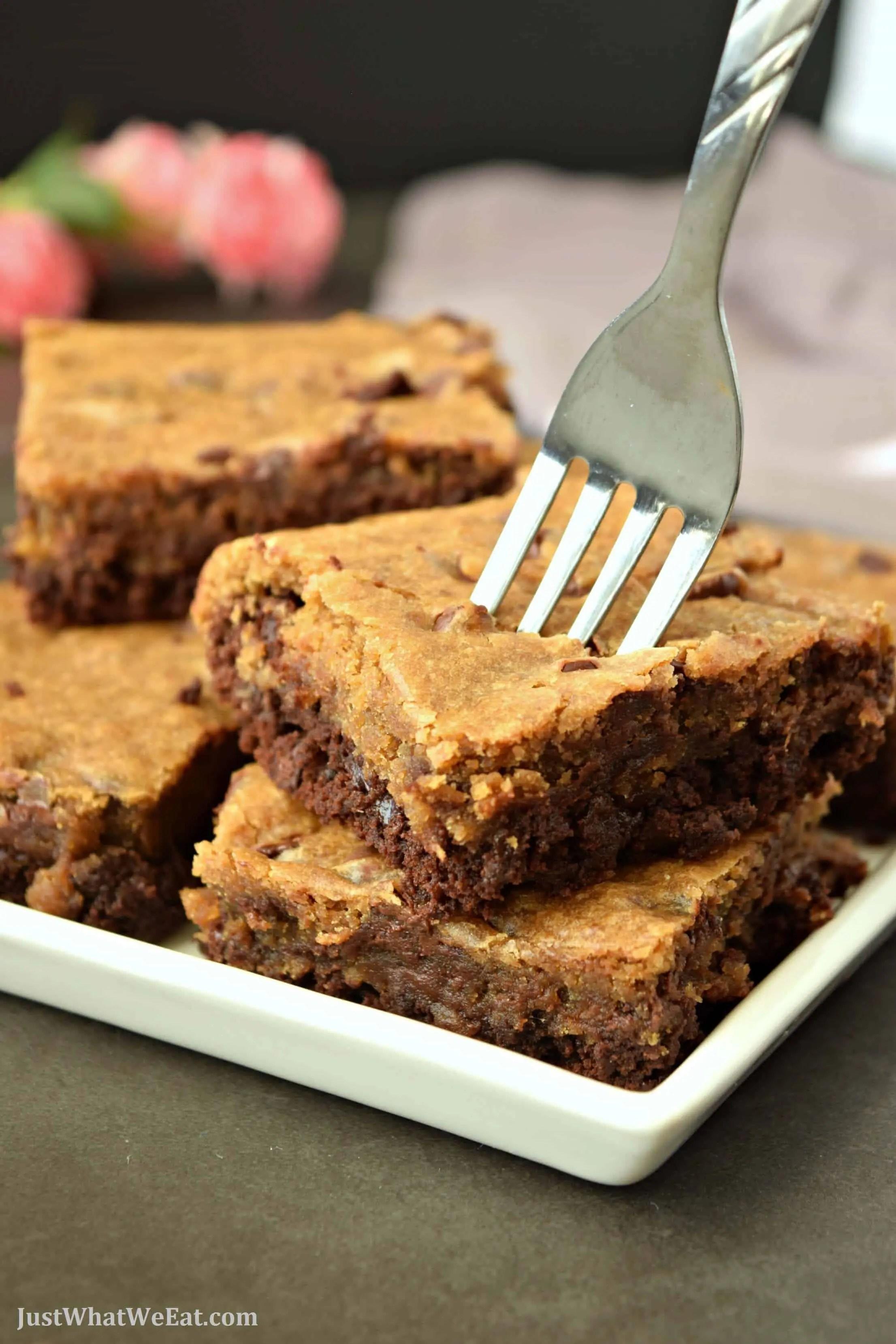 Brownie Cookie Bars - Gluten Free & Vegan