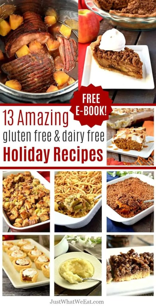 These Holiday recipes are all you need to make an amazing gluten free and dairy free Holiday meal that the whole family will love!