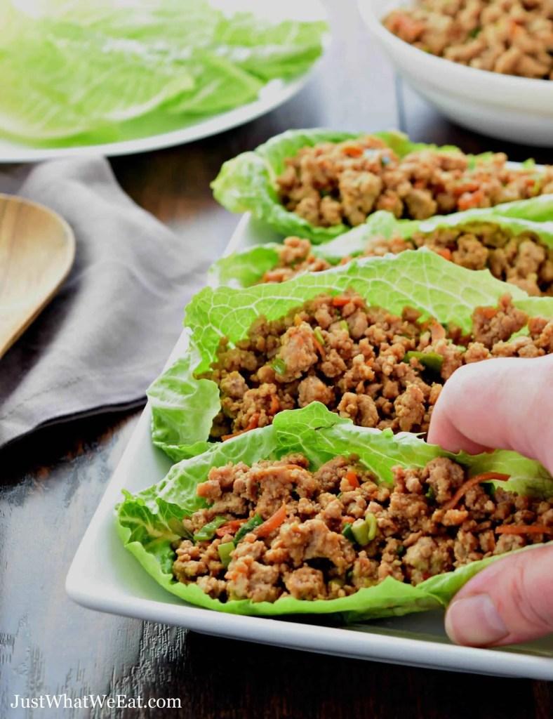 Asian Turkey Lettuce Wraps - Gluten Free, Dairy Free