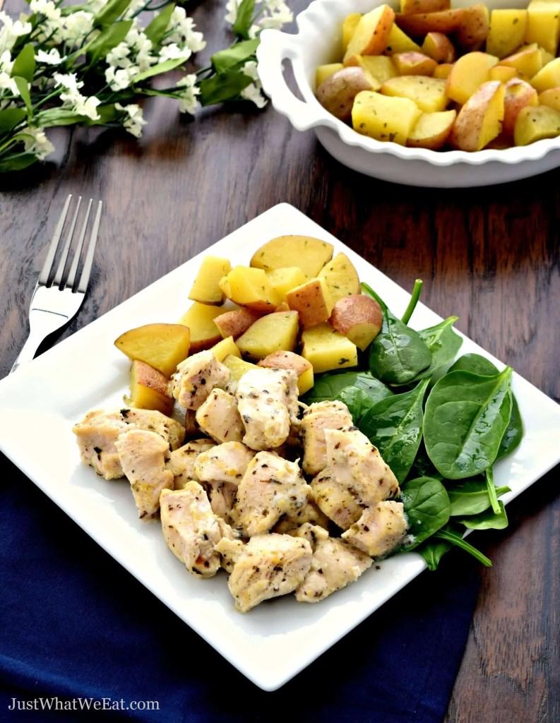 Gluten Free and Dairy Free Greek Lemon Chicken